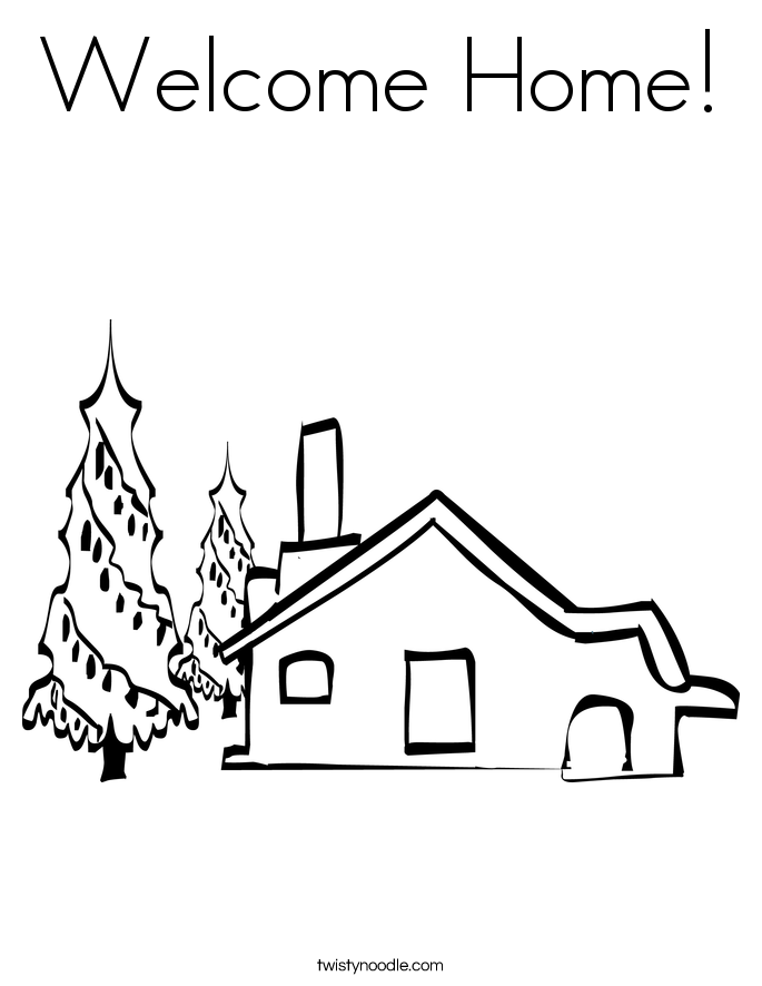 Welcome Home Coloring Page
