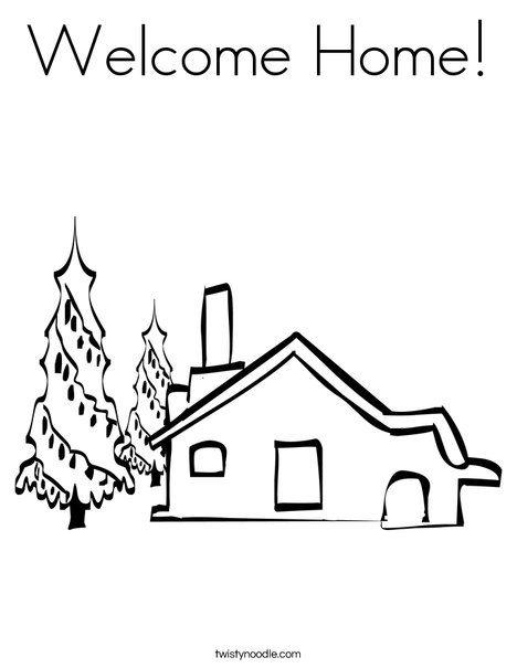 house coloring page - Welcome Home Coloring Pages