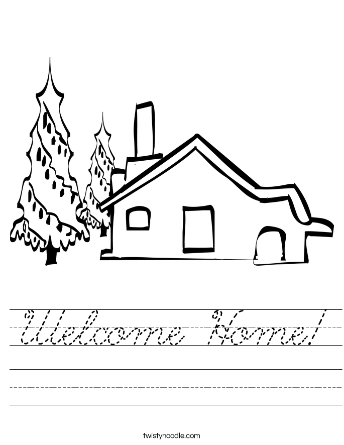 Welcome Home! Worksheet