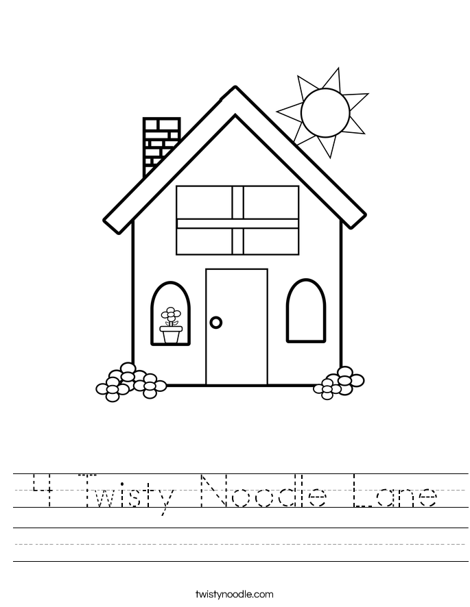 4 Twisty Noodle Lane Worksheet