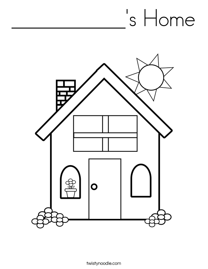 ___________'s Home Coloring Page