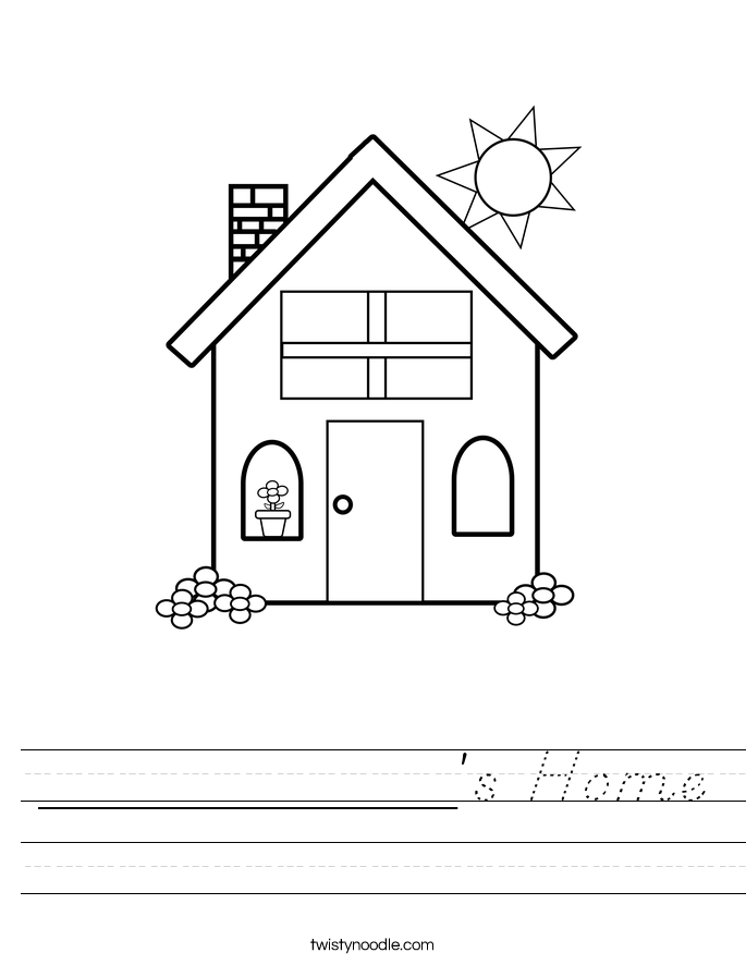 ___________'s Home Worksheet
