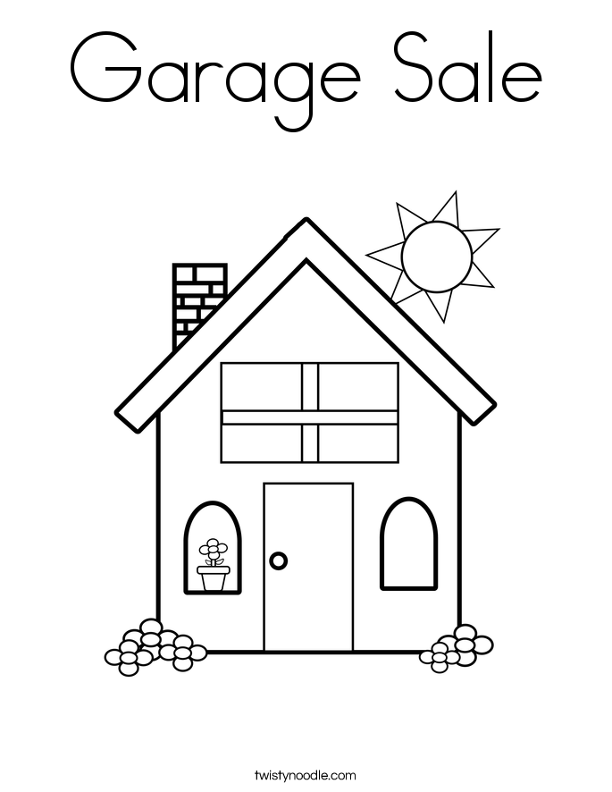 Garage Sale Coloring Page