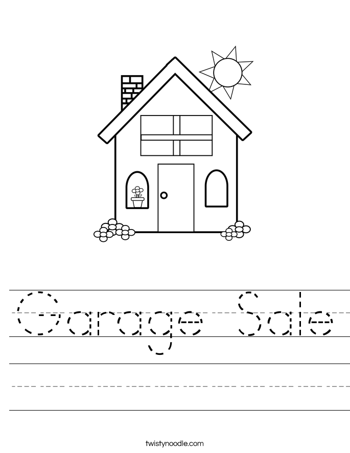 Garage Sale Worksheet
