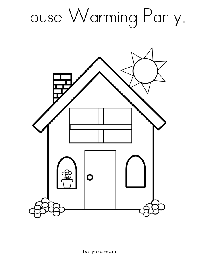 House Warming Party! Coloring Page