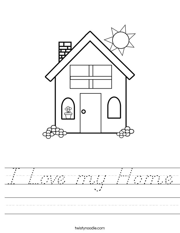 I Love my Home Worksheet