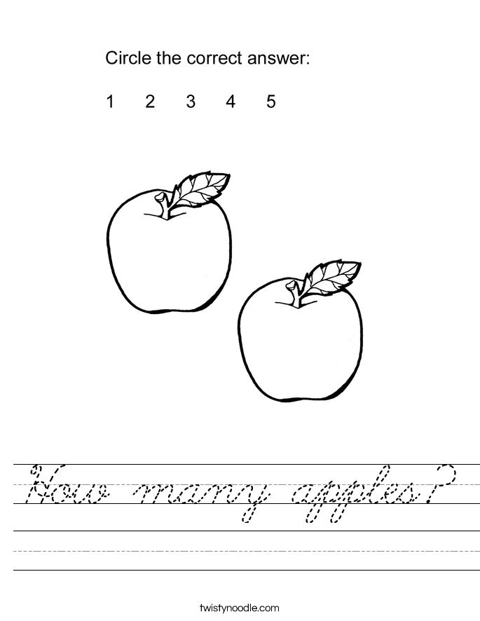 How many apples? Worksheet