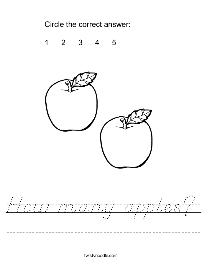 How many apples? Worksheet