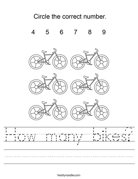 How many bikes? Worksheet