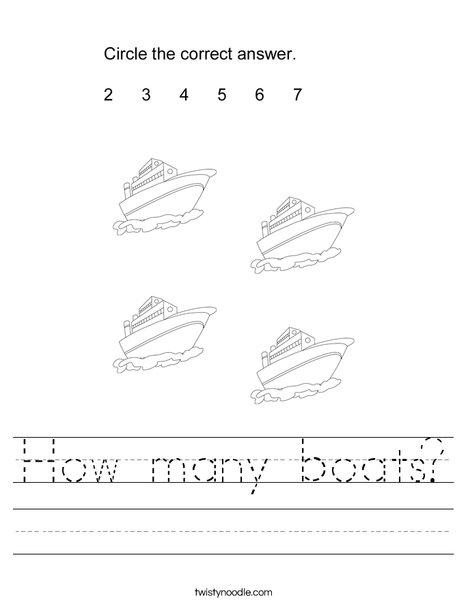 How many boats? Worksheet
