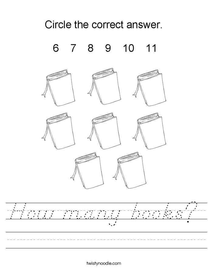 How many books? Worksheet