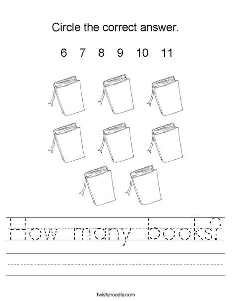 How many books? Worksheet