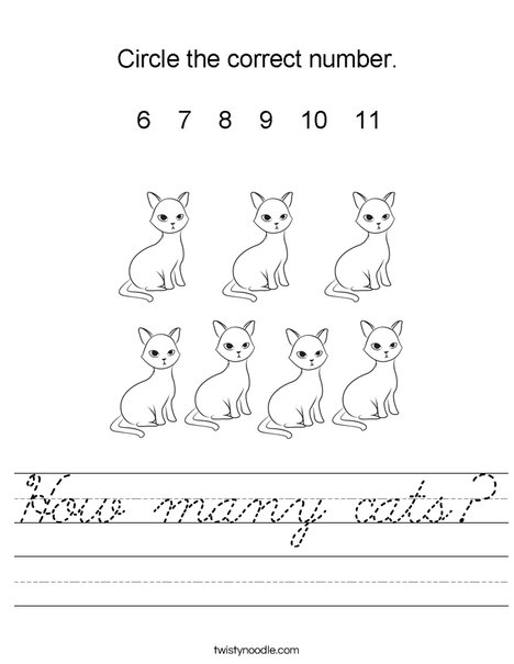 How many cats? Worksheet