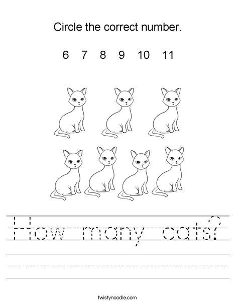 How many cats? Worksheet