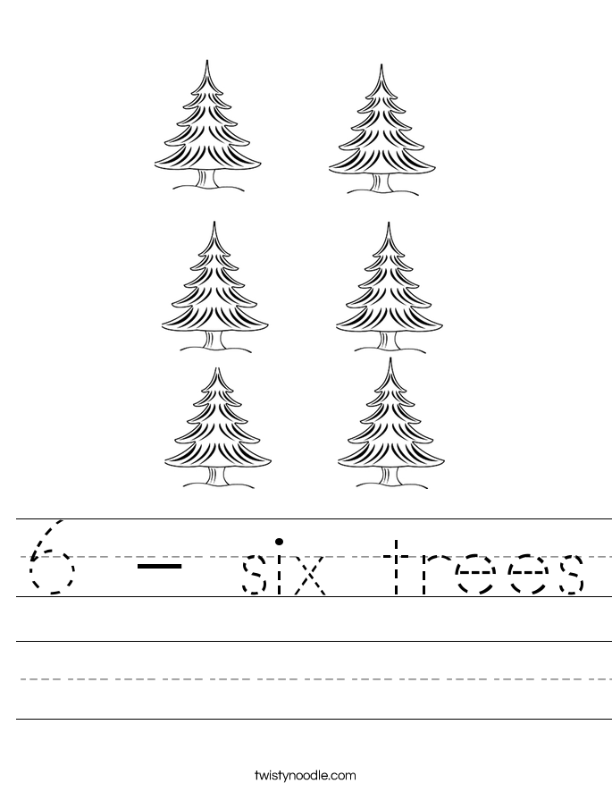 6 - six trees Worksheet