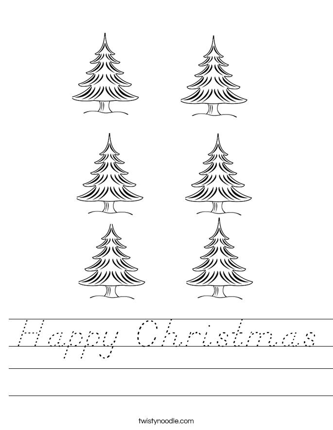 Happy Christmas Worksheet