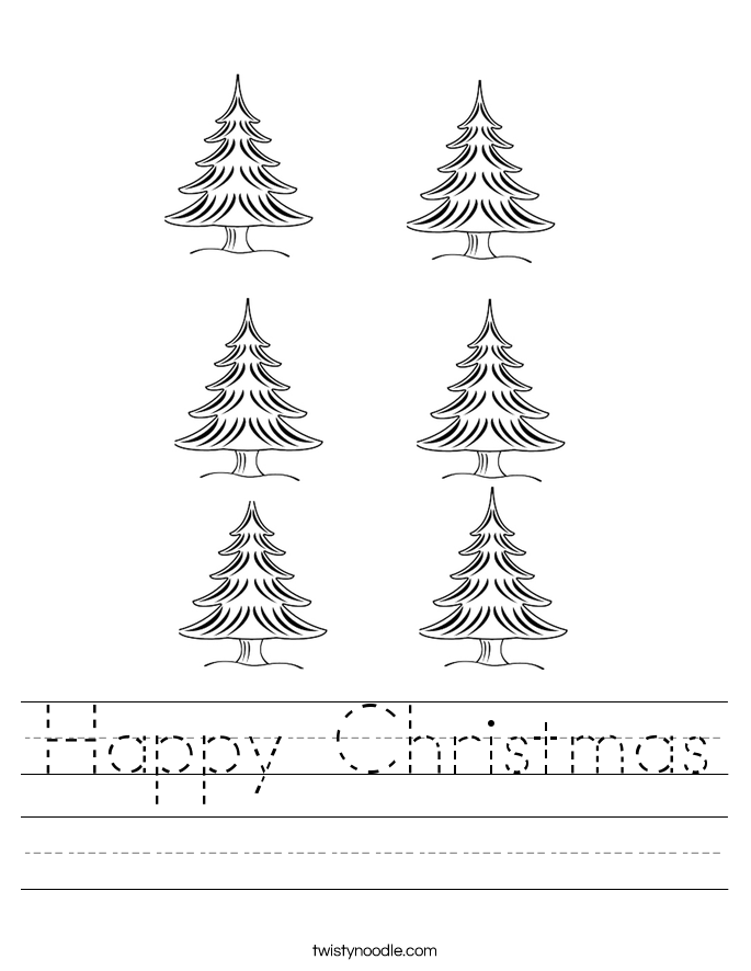 Happy Christmas Worksheet