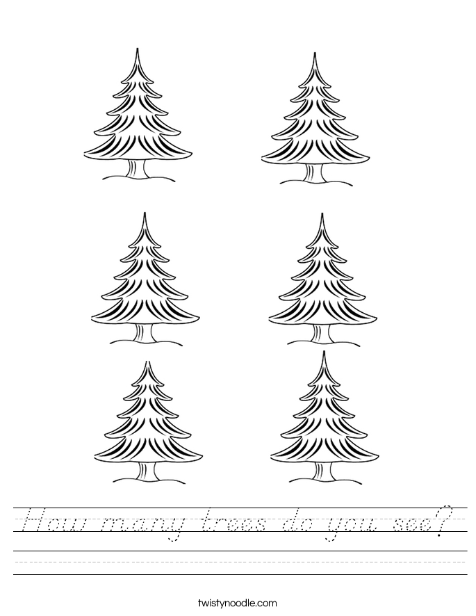How many trees do you see? Worksheet