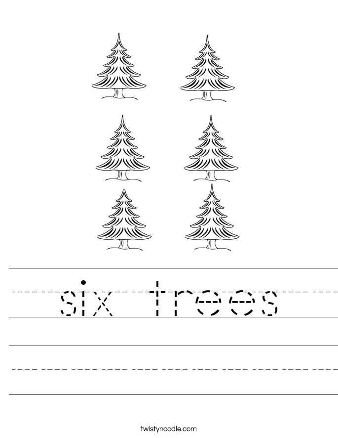six trees Worksheet