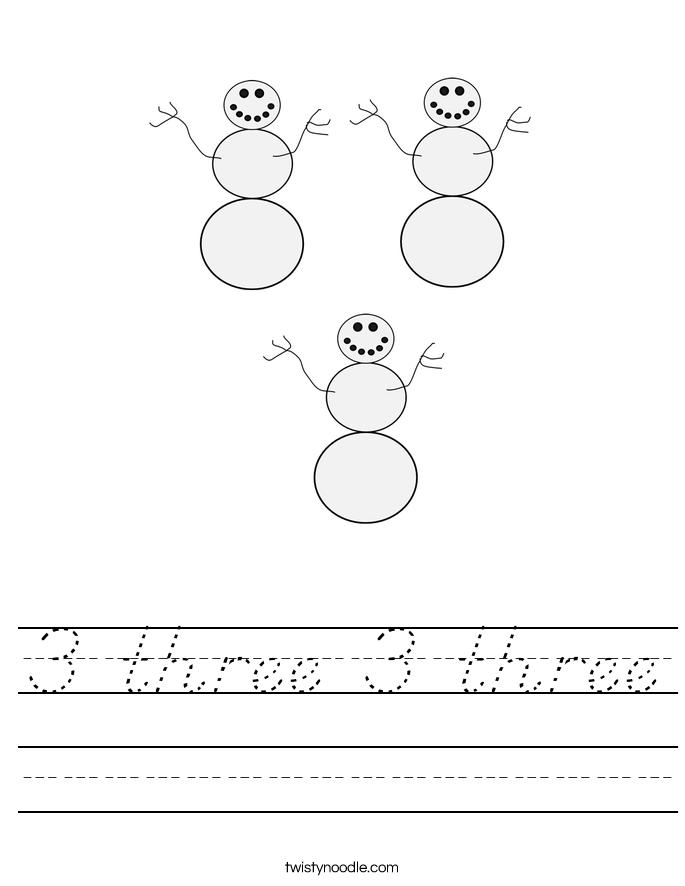 3 three 3 three Worksheet