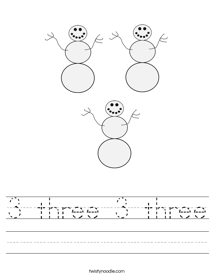 3 three 3 three Worksheet
