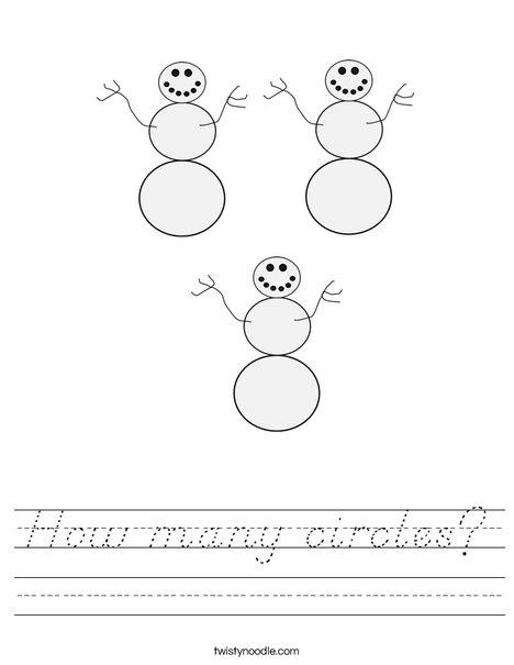 How many circles? Worksheet