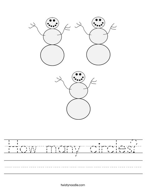 How many circles? Worksheet