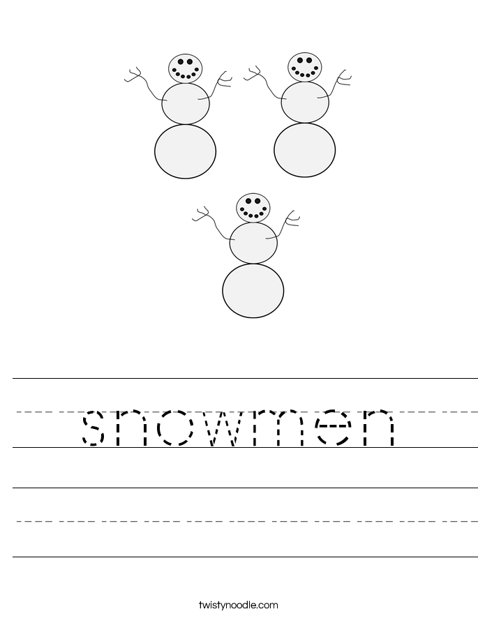 snowmen Worksheet