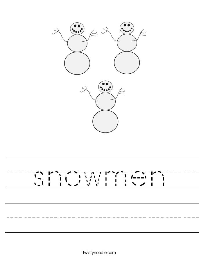 snowmen Worksheet
