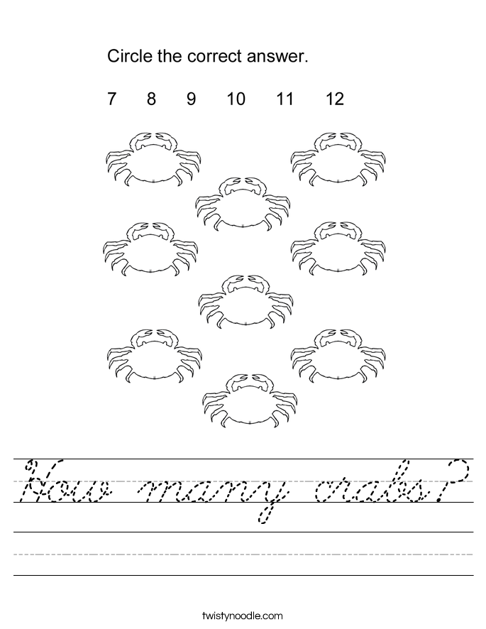 How many crabs? Worksheet