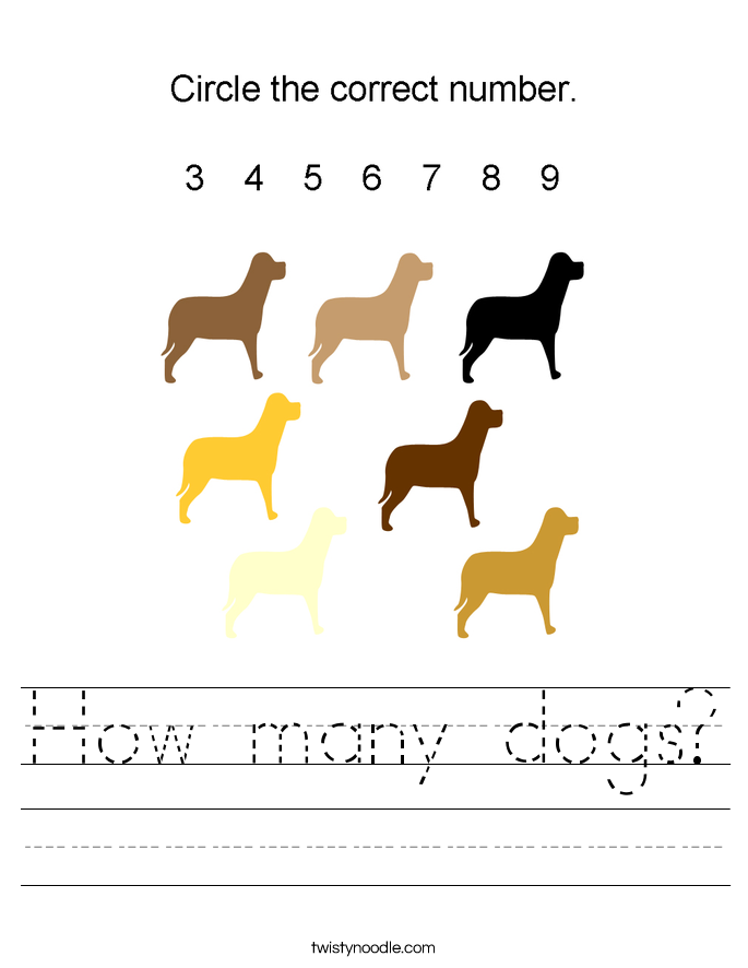 How many dogs? Worksheet