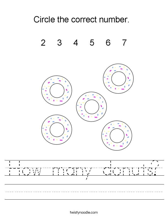 How many donuts? Worksheet