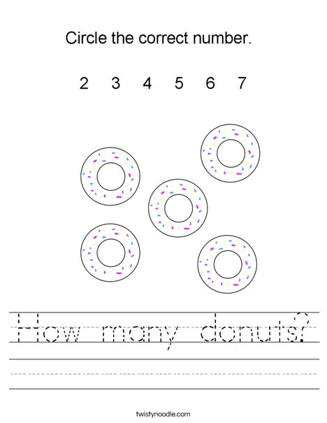 How many donuts? Worksheet