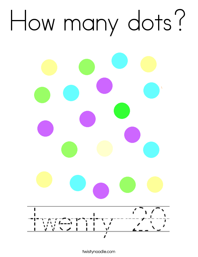 How many dots? Coloring Page