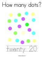 How many dots Coloring Page