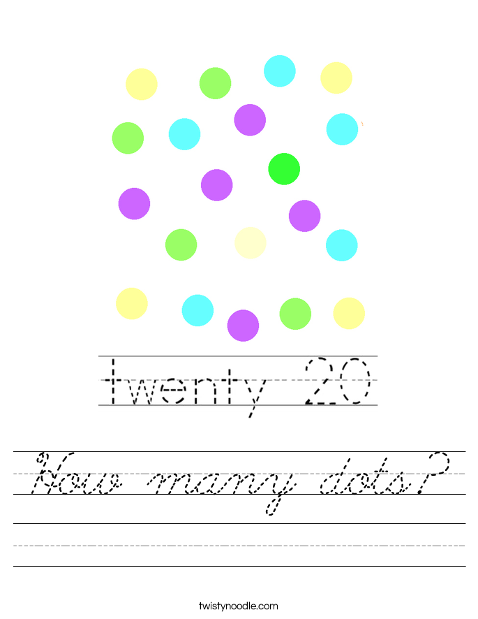 How many dots? Worksheet