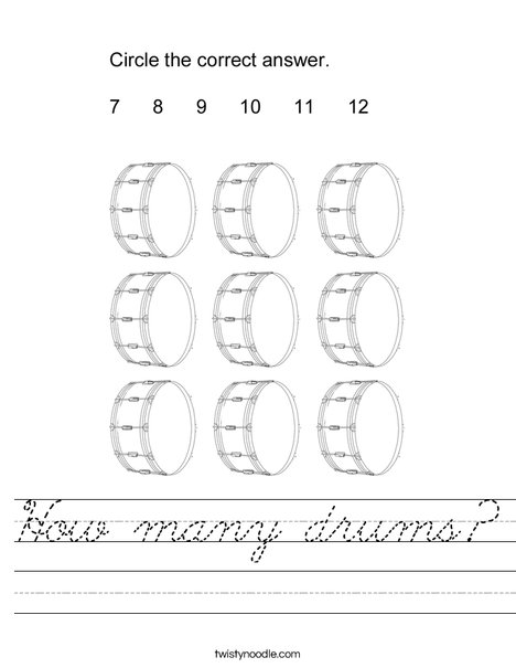 How many drums? Worksheet