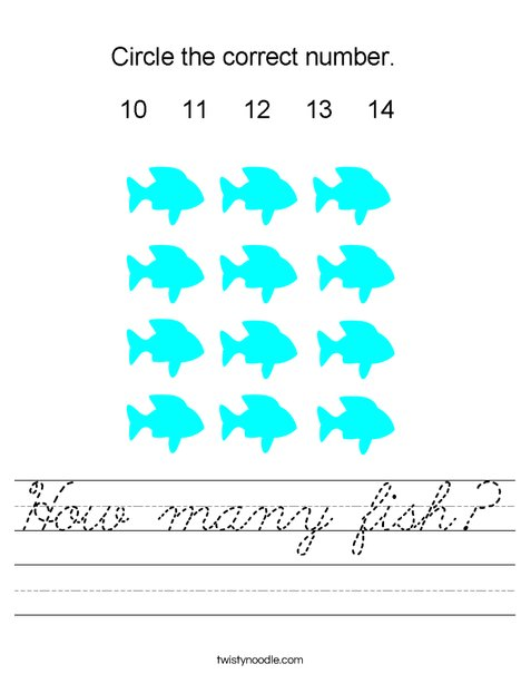 How many fish? Worksheet