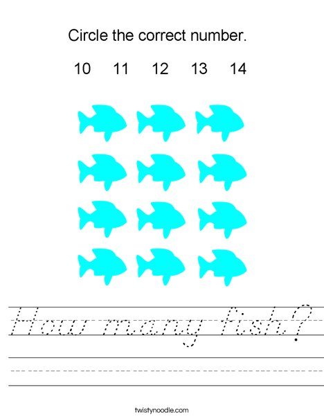 How many fish? Worksheet