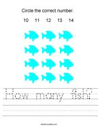 How many fish Handwriting Sheet
