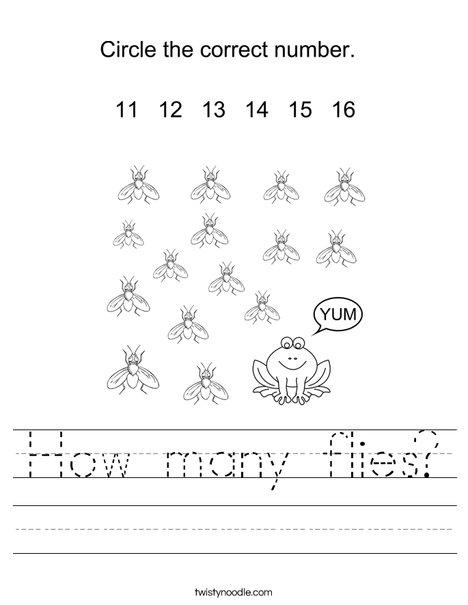 How many flies? Worksheet