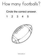 How many footballs Coloring Page