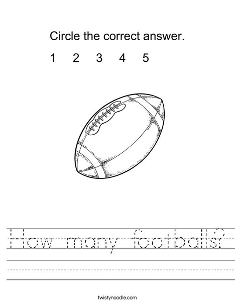 How many footballs? Worksheet
