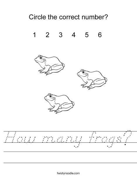 How many frogs? Worksheet