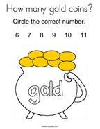 How many gold coins Coloring Page