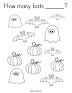 How many bats ______ Coloring Page