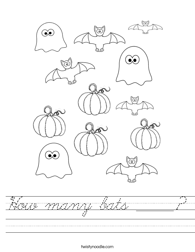How many bats ______? Worksheet