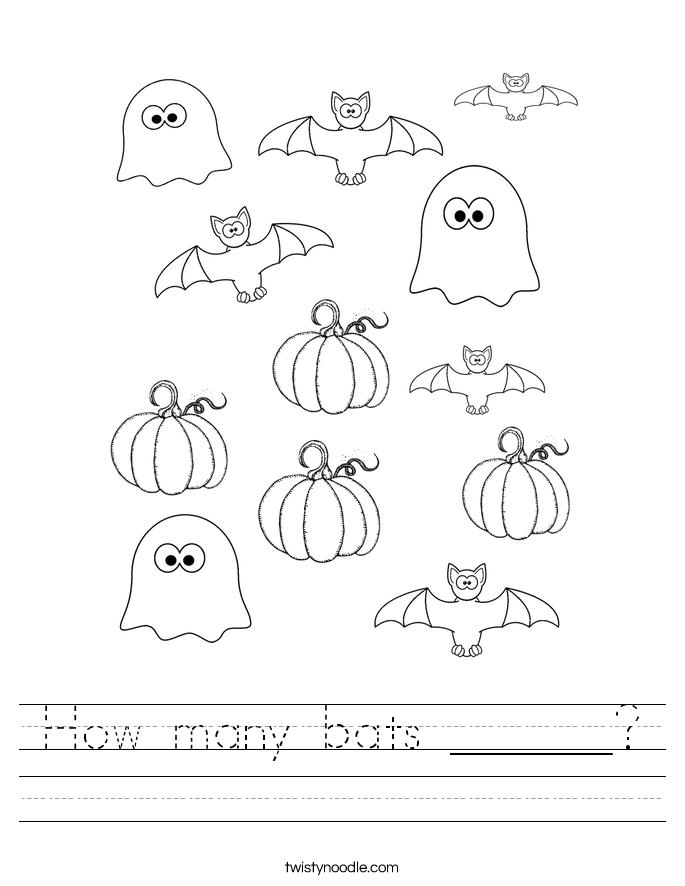 How many bats ______? Worksheet