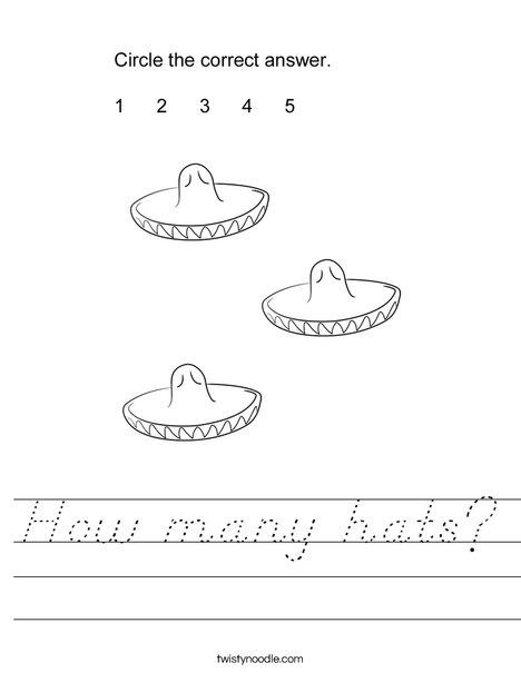 How many hats? Worksheet