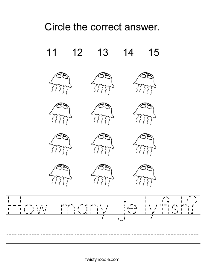 How many jellyfish? Worksheet